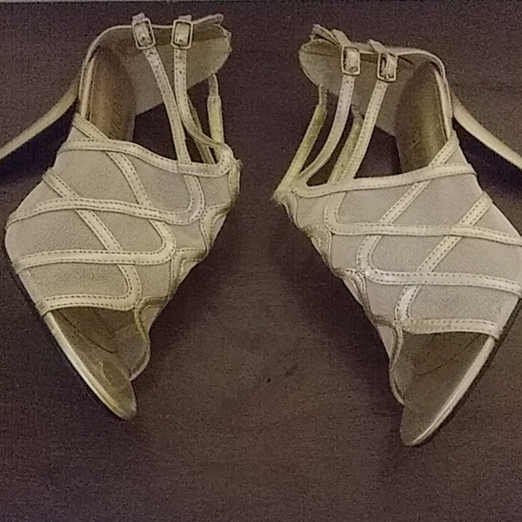 andiamo Shoes - 2 in champagne colored heels